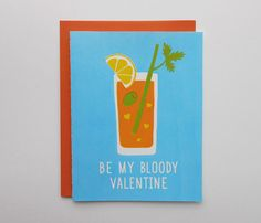 Be My Bloody Valentine Screen Print Card by luckyhorsepress