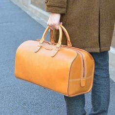 HERZ Leather Japan - Two-handle Boston zipper Bag (V-1) 56,160 yen