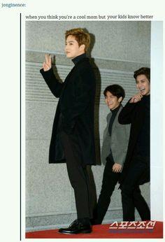 Lol Suho :D, Baekhyun & Chanyeol.