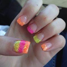 Short Nail Designs, Colorful Nail Designs, Nail Polish Designs, Nail Art Designs, Gel Polish, Pretty Gel Nails, Cute Nails, Nail Art Diy, Diy Nails