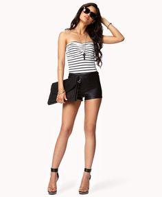 Striped Tube Top-Cute summer outfit
