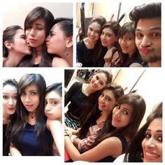 we don't have any problem with extended shoot till we have each others company Charlie Chauhan, Niti Taylor, Girl Gang, Celebs, Celebrities, Love Her, Hair Makeup, Tv Shows, Fringe Hairstyles