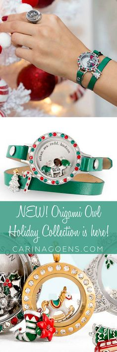The new Holiday Collection has arrived at Origami Owl! Check out all the new treasures now @ carinagoens.com