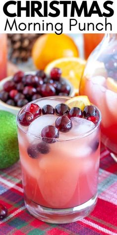 Christmas morning punch is filled with a delicious juice mixture and some bubbly soda. So easy to make and perfect to serve for a holiday gathering. You can also add alcohol for an adult version of this punch. #christmaspunch #christmasmorningpunch Cocktail Recipes, Dinner Recipes, Christmas Punch, Christmas Morning, Lunches And Dinners, Healthy Drinks, Family Meals, Appetizers