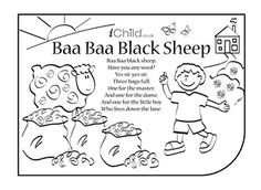 Baa baa black sheep black sheep and sheep on pinterest for Baa baa black sheep coloring page