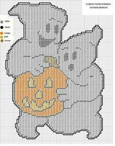 2 GHOSTS WITH PUMPKIN