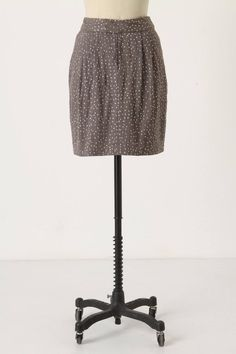 Anthropologie Starry-Eyed Skirt Size S, Gray Cotton w/Silver Sequins, By Gryphon #Gryphon #StraightPencil