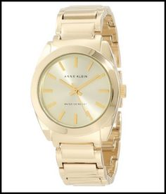 Anne Klein Women's AK/1060CHGB Round Gold Tone Watch Review