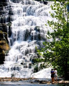 This waterfall, Ithaca Falls, is only 100 feet from the road - no hiking required to see this beauty!! In Ithaca, NY.