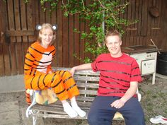 Calvin & Hobbes couples costume for Halloween