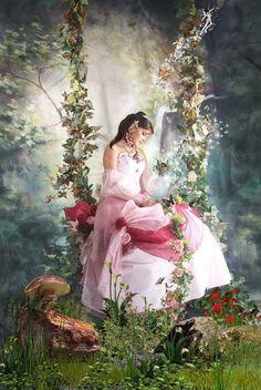 Secret Forest by Heztudio Foto Fantasy, Fantasy World, Fantasy Art, Fantasy Posters, Art Magique, Images Vintage, Fantasy Pictures, Beautiful Fairies, Fairy Art