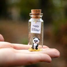 Panda birthday gift Best Friend gifts Miniature panda bear Cute Wish jar Sentimental gift for her Happy Bearday Animal pun Panda lovers gift Panda Birthday, Cute Birthday Gift, Friend Birthday Gifts, Best Friend Gifts, Gifts For Friends, Gifts For Her, Best Friends, Birthday Ideas, Panda Gifts