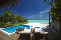 #SLHSuiteoftheWeek Hotel: Velassaru Maldives in Male, Maldives Suite: Beach Villa with Pool Wake from a restful night's sleep and walk just ten steps to feel the sand beneath your toes in Velassaru Maldives' Beach Villa with Pool. Relax in your very own private plunge pool on your own terrace and take in the beautiful view. http://www.slh.com/hotels/velassaru-maldives/