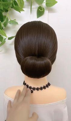 Hairdo For Long Hair, Bun Hairstyles For Long Hair, Bridal Hairstyles, Front Hair Styles, Medium Hair Styles, Natural Hair Styles, Hair Style Vedio, Bridal Hair Inspiration, Hair Videos
