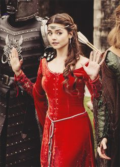 I love this garb!  Ironic that this is from Doctor Who!  ---  Jenna Coleman as Clara Oswald Doctor Who & Robin Hood