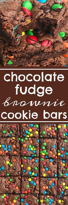 chocolate fudge brownie cookie bars