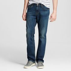 Men's Jeans Light Vintage Stone Wash 31x32 - Mossimo Supply Co., Blue