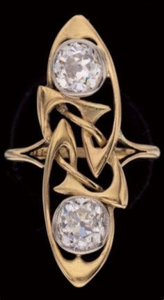 An Art Nouveau gold and diamond ring, by Archibald Knox for Liberty & Co | JV