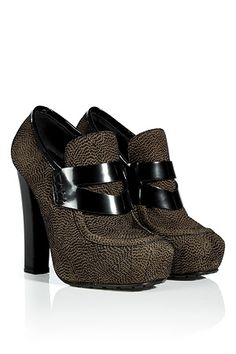 STYLEBOP.com | Olive/BlackSuedePlatformLoafersbyPROENZASCHOULER | the latest trends from the capitals of the world