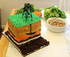 Petroleum Geologists Birthday Cake 2012 made by Andrea, my daughter