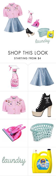 """Ain't your mama"" by lianaglam ❤ liked on Polyvore featuring Moschino, Stratton Home Décor and WomenAreStrong"