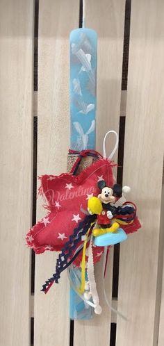 Πασχαλινή λαμπάδα Mickey Mouse! #πασχαλινη_λαμπαδα #λαμπαδες #mickey_mouse #mickey #handmadebyvalentina Mickey Mouse, Outdoor Decor, Home Decor, Decoration Home, Room Decor, Interior Design, Home Interiors, Baby Mouse, Interior Decorating