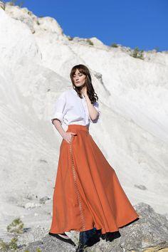 Sukňa Claire- terakota / Artika - SAShE.sk Summer Essentials, Amelie, Claire, Zara, Style Inspiration, Womens Fashion, Skirts, Tunic, Skirt
