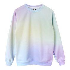 Pastel Princess Sweatshirt [Pre-Order] ($92) ❤ liked on Polyvore featuring tops, hoodies, sweatshirts, sweat tops, knit tops, print sweatshirt, pastel sweatshirt and long sleeve sweatshirt