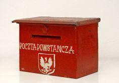 Polish insurgent-post letter-box. The Warsaw Uprising 1944.