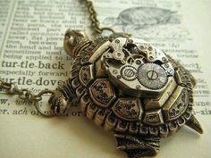 steampunk turtle necklace