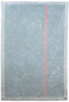 Sara Impey ~ Tickbox Culture. © 2009.132 x 200 cm. Hand-dyed cotton, wholecloth, machine quilted.