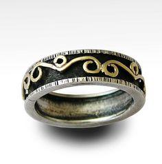 Meditation infinity spinner ring  Sterling silver by artisanlook, $220.00