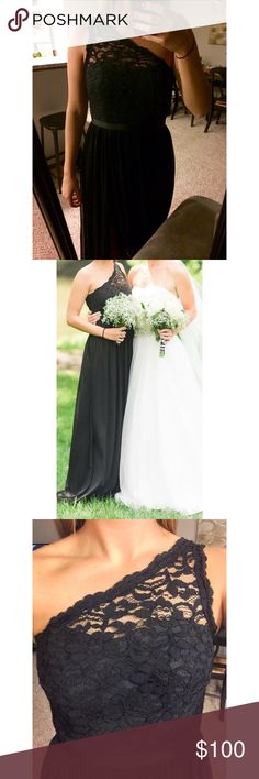 Bridesmaid dress - David's Bridal Black long, bridesmaids dress from David's Bridal bought in Jan 2016. Only worn once. Dry cleaned after wear. David's Bridal Dresses Wedding