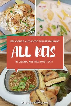 Do you want to take a culinary trip to Thailand while you are in Vienna? Then make a trip to ALL REIS Bangkok Street Food in Vienna's district. I fell in love with them at the first bite. Fish Dishes, Main Dishes, Bangkok, Best Vegetarian Restaurants, Vegetarian Recipes, Vietnamese Cuisine, Vietnamese Dessert, Thailand, Thai Restaurant