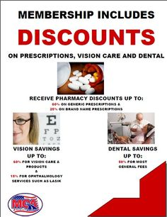 Discounts on your vision,eyes and presciption drugs is another one of Motor Club Of America benefits when you join as low as 9.95 an month. http://TotalSecurityAccess.com