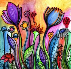 Flowers Painting - Let There Be Light by Robin Mead