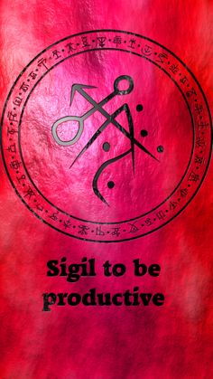 ☽✪☾...Sigil to be productive. Wolf of Antimony Occultism.