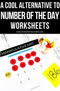 Interactive Number of the Day activities for building number sense. Great for math warm ups! Number Sense Activities, Base Ten Blocks, What's The Number, Classroom Routines, Math Manipulatives, Word Pictures, Elementary Teacher, Teaching Tips, Worksheets
