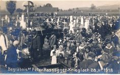 PK AK Steiermark Foto Krieglach Rossegger 1918 Begräbnis 1918 Friedhof New York Skyline, Poster, Travel, Pictures, Postcards, Viajes, Destinations, Traveling, Trips