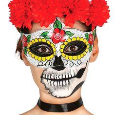 Antifaz Catrina Esqueleto Mexicano #máscaras #antifaces