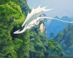 The White Dragon by solarisa on DeviantArt : For me, a strong symbol of luminous beauty and powerful energy that appeared in my meditations. Upward flow and undulation similar to snake, but different. More feminine. More graceful. Mythical Creatures Art, Mythological Creatures, Magical Creatures, Fantasy World, Fantasy Art, Cool Dragons, Dragon Artwork, Dragon Rider, Dragon Pictures