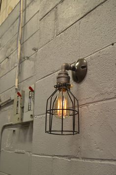 Wall Lighitng  Sconce Light  Wall fixture  by WestNinthVintage