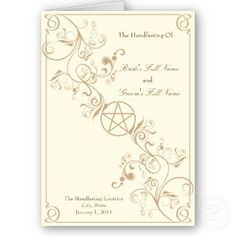 Handfasting invitation - would have to be black/red or black/purple
