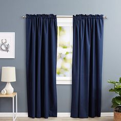 9 Best Blue Curtains in Different Designs To make a trendier and stylish interior we can go for blue curtains will be good choice for your home. Here look at our 9 Top Blue Curtains with Images. Blue Eyelet Curtains, Royal Blue Curtains, Blue Curtains Living Room, Blue And White Curtains, Orange Curtains, Blue Bedroom Decor, Blue Shower Curtains, Blue Curtains For Bedroom, Hallway Curtains