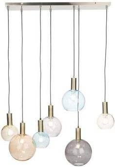 Gaby hanglamp 7-lampsCOCO MAISON_xooon Floor Lamp, Light, Pendant Light, Lamp, Lighting Design, Home Deco, Ceiling Lights, Dining Room Lighting, Open Plan Kitchen Living Room