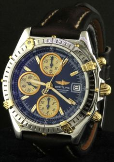 Breitling Chronomat B13050.1 SS/18K gold automatic chronograph men's watch