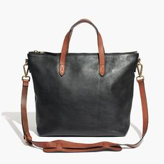 You asked for it: We remade our signature ruggedly cool carryall in a zip-top version. Not too big, not too small, it's designed to sling over your shoulder using the removable crossbody strap (aka a sized-down take on our regular tote). Figure in the secure top zip and it's the ideal bag for your daily commute. Please note: As leather is a natural material, each bag varies slightly in texture and color. We love the way each tote wears in differently, taking on a special character all its…