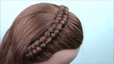 COMO HACER LA TRENZA ORUGA EN DIADEMA |PASO A PASO |  DIANA ROJAS - YouTube Creative Hairstyles, Pretty Hairstyles, Braided Hairstyles, High School Hairstyles, Little Girl Hairstyles, Braids For Kids, Different Hairstyles, Mi Long, Hair Videos