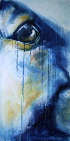 """Saatchi Art Artist Benedicte Gele; Painting, """"Look VII"""" #art"""
