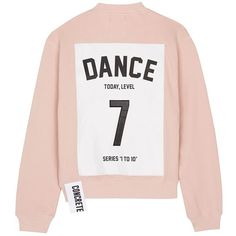 Studio Concrete 'Series 1 to 10' sweatshirt - 7 Dance (€170) ❤ liked on Polyvore featuring tops, hoodies, sweatshirts, sweaters, shirts, pink, pink top, pink sweatshirts, patch shirt and shirt top